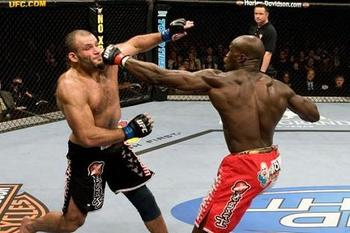 Cheick Kongo (right) looks to add another win to his record
