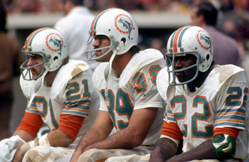 From left: Jim Kiick, Larry Csonka, Mercury Morris