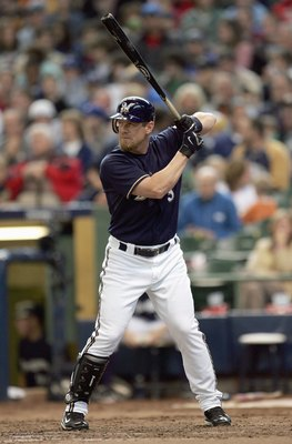 MILWAUKEE - MAY 20: Geoff Jenkins  #5 of the Milwaukee Brewers stands ready at bat against the Minnesota Twins on May 20, 2007 at Miller Park in Milwaukee, Wisconsin. The Brewers defeated the Twins 6-5. (Photo by Jonathan Daniel/Getty Images)