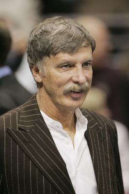 DENVER - NOVEMBER 4:  Denver Nuggets owner Stanley Kroenke is seen at the game against the Minnesota Timberwolves at the Pepsi Center on November 4, 2004 in Denver, Colorado.  The Nuggets won 94-92 in overtime.  NOTE TO USER: User expressly acknowledges a