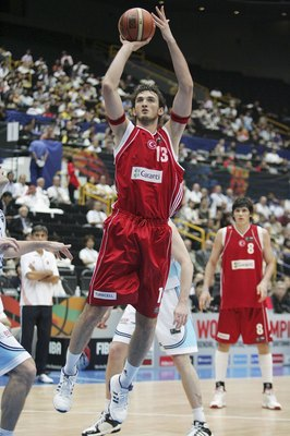 Semih Erden takes the jumper in International play.
