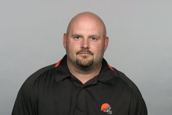 CLEVELAND - 2009:  Brian Daboll of the Cleveland Browns poses for his 2009 NFL headshot at photo day in Cleveland, Ohio. (Photo by NFL Photos)