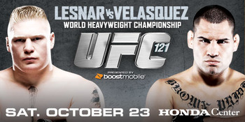 Brock Lesnar. Cain Velasquez. Enough said.