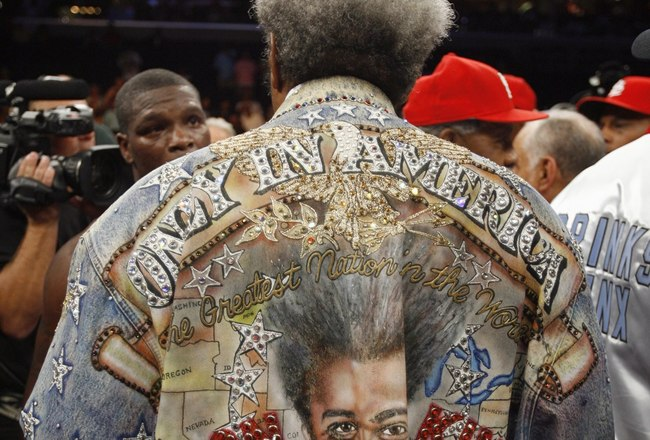 MEMPHIS, TN - MAY 19:  Don King, promoter for Cory Spinks, before the World Middleweight Championship fight.  Jermain Taylor won by split decision at FedExForum on May 19, 2007 in Memphis, Tennessee. (Photo by Joe Murphy/Getty Images