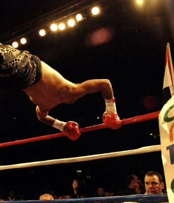 22 Oct 1999:  Prince Naseem Hamed enters the ring to fight Cesar Soto during WBC and WBO Featherweight bout at Joe Louis Arena in Detroit, Michigan, USA. Hamed defeated Soto in a unanimous decision. \ Mandatory Credit: John Gichigi /Allsport
