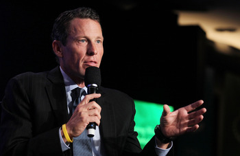 NEW YORK - SEPTEMBER 22:  Lance Armstrong, cyclist and founder and chairman of LIVESTRONG, speaks during the annual Clinton Global Initiative (CGI) September 22, 2010 in New York City. The sixth annual meeting of the CGI gathers prominent individuals in p