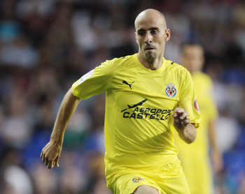 LONDON, ENGLAND - JULY 29:  Borja Valero of  Villarreal during a Pre-Season Friendly between Tottenham Hotspur and  Villarreal at White Hart Lane on July 29, 2010 in London, England.  (Photo by Phil Cole/Getty Images)