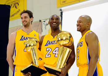 Proven winners: Pau Gasol, Kobe Bryant, and Derek Fisher