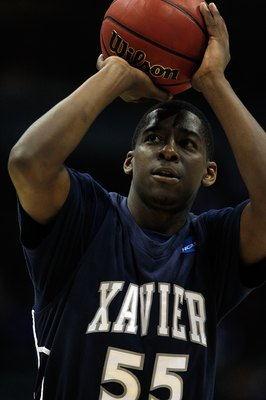 MILWAUKEE - MARCH 21:  Jordan Crawford #55 of the Xavier Musketeers shoots a free throw against the Pittsburgh Panthers in the second half during the second round of the 2010 NCAA men's basketball tournament at the Bradley Center on March 21, 2010 in Milw