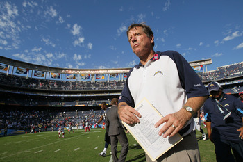 SAN DIEGO - OCTOBER 03:  Head coach Norv Turner of the San Diego Chargers walks off the field after the game against the Arizona Cardinals at Qualcomm Stadium on October 3, 2010 in San Diego, California.  (Photo by Stephen Dunn/Getty Images)