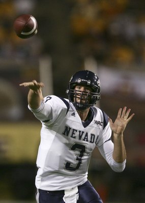 TEMPE, AZ - SEPTEMBER 09:  Jeff Rowe #3 of Nevada passes against Arizona State during the first quarter at Sun Devil Stadium on September 9, 2006 in Tempe, Arizona.  (Photo by Harry How/Getty Images)