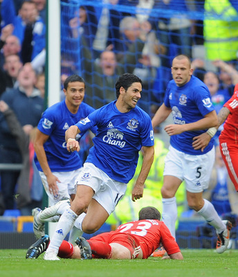 Arteta ran the show for Everton