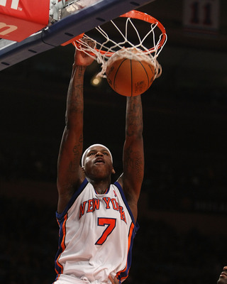 NEW YORK - DECEMBER 07:  Al Harrington #7 of the New York Knicks dunks the ball against the Portland Trail Blazers at Madison Square Garden on December 7, 2009 in New York, New York. NOTE TO USER: User expressly acknowledges and agrees that, by downloadin