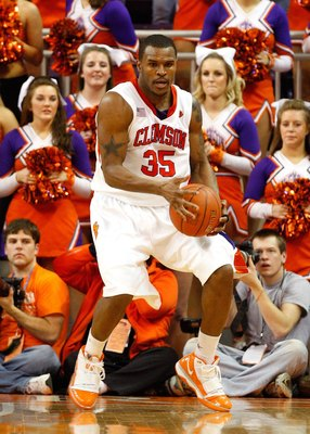 CLEMSON, SC - JANUARY 13:  Trevor Booker #35 of the Clemson Tigers against the North Carolina Tar Heels at Littlejohn Coliseum on January 13, 2010 in Clemson, South Carolina.  (Photo by Kevin C. Cox/Getty Images)