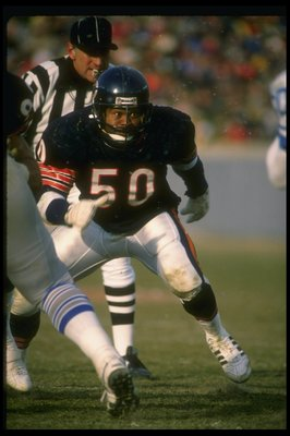Chicago Bears Middle Linebacker Mike Singletary