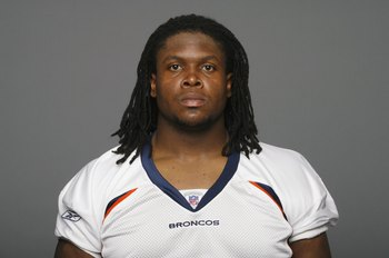 DENVER - 2009:  Ryan Clady of the Denver Broncos poses for his 2009 NFL headshot at photo day in Denver, Colorado. (Photo by NFL Photos)