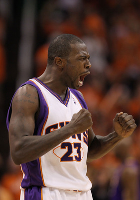 PHOENIX - MAY 23:  Jason Richardson #23 of the Phoenix Suns reacts after making a three point shot against the Los Angeles Lakers in the fourth quarter of Game Three of the Western Conference Finals during the 2010 NBA Playoffs at US Airways Center on May