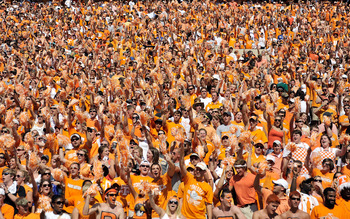 With any luck, this section of Neyland will be empty by halftime.
