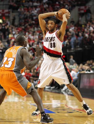 PORTLAND, OR - APRIL 24:  Nicolas Batum #88 of the Portland Trail Blazers in action against Jason Richardson #23 of the Phoenix Suns during Game Four of the Western Conference Quarterfinals of the NBA Playoffs on April 24, 2010 at the Rose Garden in Portl