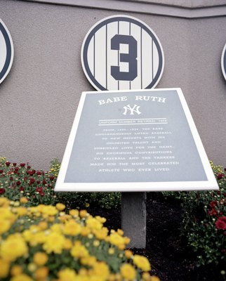 NEW YORK - SEPTEMBER 11: A general view of the Babe Ruth plaque at Yankee Stadium on September 11, 2008 in the Bronx borough of New York City. The 85 year old ball park will be closed after the 2008 season as the New York Yankees move to the new Yankee St