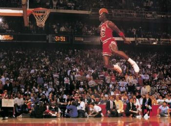 Michael Jordan in the 1988 NBA Slam Dunk Competition