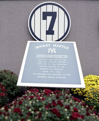 NEW YORK - SEPTEMBER 11: A general view of the Mickey Mantle plaque in Monument Park at Yankee Stadium on September 11, 2008 in the Bronx borough of New York City. The 85 year old ball park will be closed after the 2008 season as the New York Yankees move