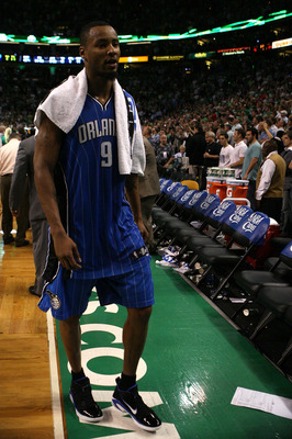 BOSTON - MAY 28:  Rashard Lewis #9 of the Orlando Magic walks off the court dejected after the Magic lost 96-84 against the Boston Celtics in Game Six of the Eastern Conference Finals during the 2010 NBA Playoffs at TD Garden on May 28, 2010 in Boston, Ma