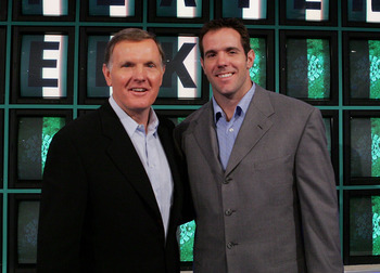 Bob Griese on left with his son Brian, also an NFL quarterback.
