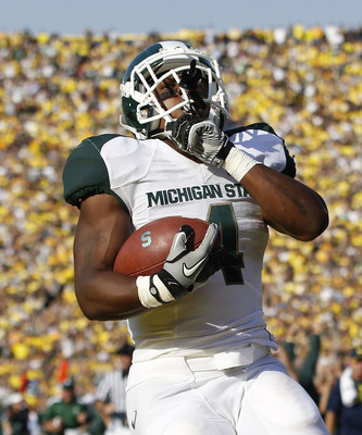 Michigan State Running Back Edwin Baker