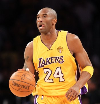 LOS ANGELES, CA - JUNE 17:  Kobe Bryant #24 of the Los Angeles Lakers moves the ball in Game Seven of the 2010 NBA Finals against the Boston Celtics at Staples Center on June 17, 2010 in Los Angeles, California.  NOTE TO USER: User expressly acknowledges