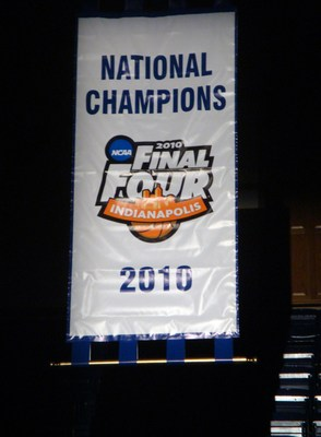 Duke unveiled their 2010 National Championship banner at Midnight Madness last week.