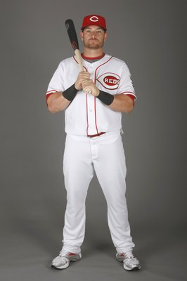 SARASOTA, FL - FEBRUARY 18:  Johnny Gomes #31 of the Cincinnati Reds poses for a photo during Spring Training Photo day on February 18, 2009 at the Cincinnati Reds training facility in Sarasota, Florida.  (Photo by Chris Graythen/Getty Images)