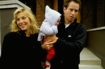 Undated:  John McEnroe of the USA and Tatum O''Neal with their baby. \ Mandatory Credit: Allsport UK /Allsport