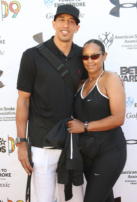 LOS ANGELES, CA - JUNE 26: NBA basketball player Doug Christie and Jackie Christie attend the BET Awards third annual ''Power to End Strokes'' golf tournment at the Angeles National Golf Course on June 26, 2009 in Los Angeles, California. (Photo by Freder