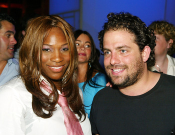 LOS ANGELES - JULY 15:  Tennis player Serena Williams (L) and director Brett Ratner pose at the after party for the premiere of Universal's 'The Bourne Supremacy' at Sunset+Vine on July 15, 2004 in Los Angeles, California.  (Photo by Kevin Winter/Getty Im