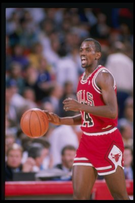 1989-1990:  Guard Craig Hodges of the Chicago Bulls looks on. Mandatory Credit: Tim de Frisco  /Allsport