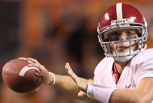 KNOXVILLE, TN - OCTOBER 23:  of the Alabama Crimson Tide during the SEC game against the Tennessee Volunteers at Neyland Stadium on October 23, 2010 in Knoxville, Tennessee.  (Photo by Andy Lyons/Getty Images)