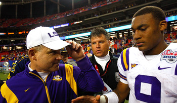 Jordan Jefferson and Les Miles
