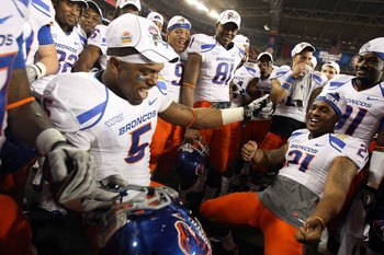 Players celebrating a second Fiesta Bowl Victory in 4 years