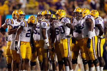 LSU offensive unit