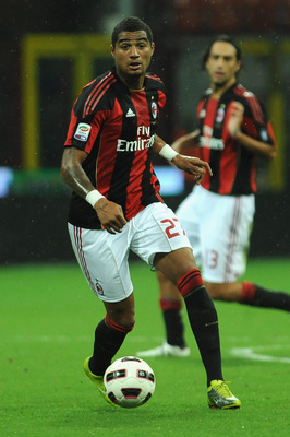 MILAN, ITALY - SEPTEMBER 18:  Kevin Prince Boateng of AC Milan in action during the Serie A match between AC Milan and Catania Calcio at Stadio Giuseppe Meazza on September 18, 2010 in Milan, Italy.  (Photo by Valerio Pennicino/Getty Images)