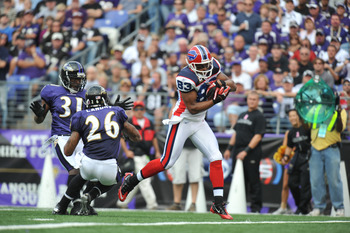 Lee Evans tourched the Ravens for 3 TDs