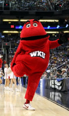PHOENIX - MARCH 27:  The Western Kentucky Hilltoppers mascot attends the West Regional Sweet 16 game against the UCLA Bruins at the U.S. Airways Center on March 27, 2008 in Phoenix, Arizona.  (Photo by Stephen Dunn/Getty Images)