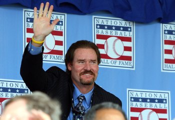COOPERSTOWN, NY - JULY 26:  Hall of Famer Wade Boggs waves to the crowd as he is introduced at Clark Sports Center during the 2009  Baseball Hall of Fame induction ceremony on July 26, 2009 in Cooperstown, New York.  (Photo by Jim McIsaac/Getty Images)
