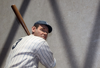 COOPERSTOWN, NY - JULY 24:  A statue of Babe Ruth is seen at the Baseball Hall of Fame and Museum during induction weekend on July 24, 2010 in Cooperstown, New York.  (Photo by Jim McIsaac/Getty Images)