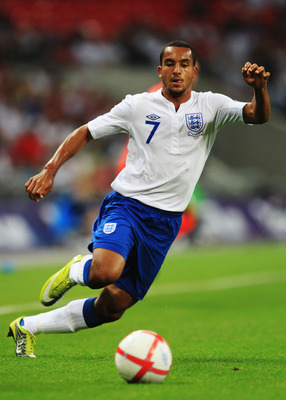 LONDON, ENGLAND - SEPTEMBER 03:  Theo Walcott of England is seen during the UEFA EURO 2012 Group G Qualifying match between England and Bulgaria at Wembley Stadium on September 3, 2010 in London, England.  (Photo by Mark Thompson/Getty Images)