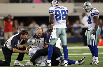 Tony Romo left the game on Monday night with a broken collarbone.