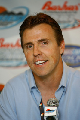 AVONDALE, AZ - APRIL 20:  Former NFL linebacker Bill Romanowski, speaks to members of the media during practice for the NASCAR Nextel Cup Series Subway Fresh Fit 500 at Phoenix International Raceway on April 20, 2007 in Avondale, Arizona. Romanowski will