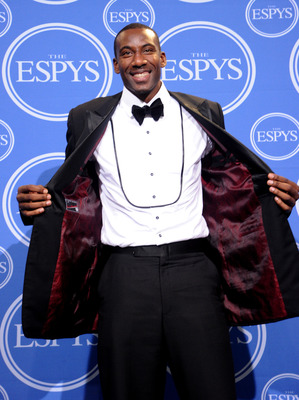 LOS ANGELES, CA - JULY 14:  Amar'e Stoudemire of the New York Knicks poses in press room during the 2010 ESPY Awards at Nokia Theatre L.A. Live on July 14, 2010 in Los Angeles, California.  (Photo by Jason Merritt/Getty Images)