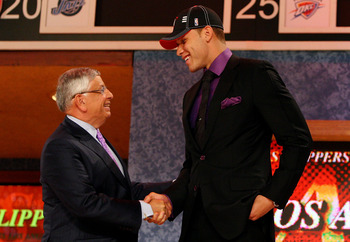 NEW YORK - JUNE 25:  NBA Commissioner David Stern poses for a photograph with the first overall draft pick by the Los Angeles Clippers,  Blake Griffin during the 2009 NBA Draft at the Wamu Theatre at Madison Square Garden June 25, 2009 in New York City. N